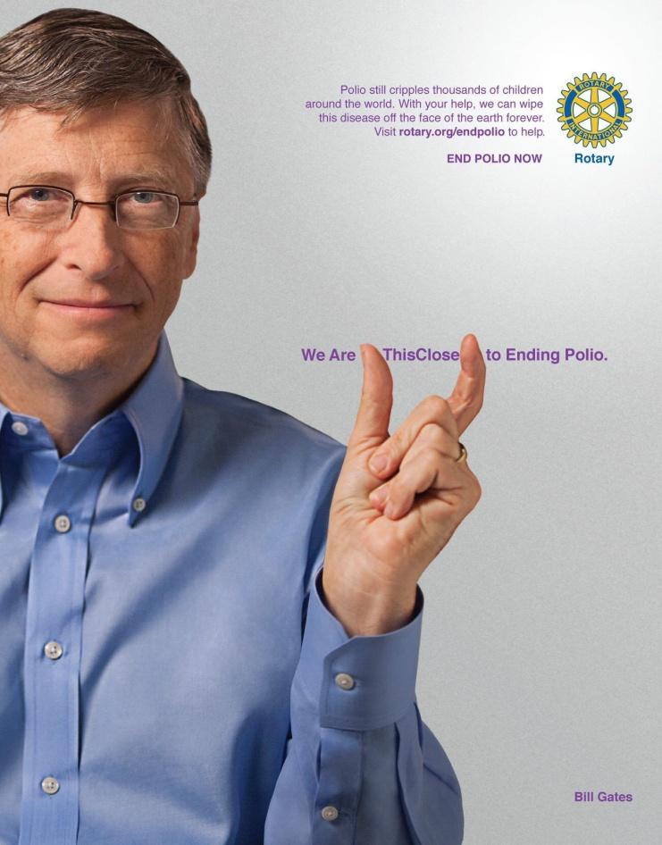 Bil Gates na campanha de erradiacacao da Polio - Falta so Isto