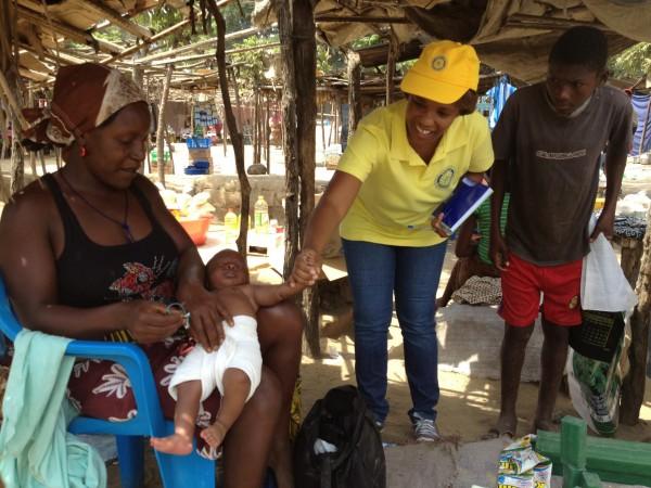 Fiscalizacao campanha vacinacao contra a Polio no Dombe Grande