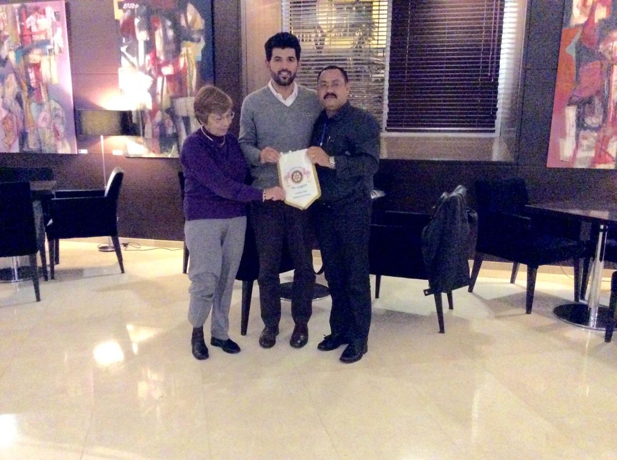 Recuperação do companheiro Manuel Correia no Rotary Clube Centenarium de Lisboa